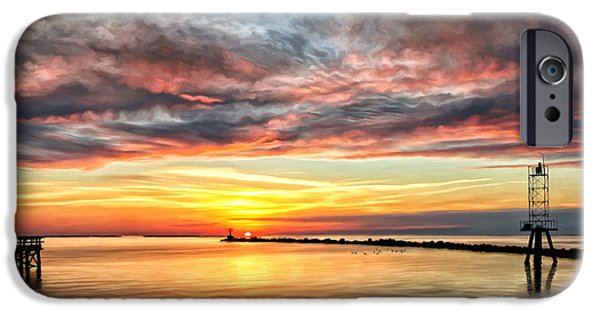 Chesapeake iPhone Cases - My Return to Cape Charles Virginia iPhone Case by Michael Pickett