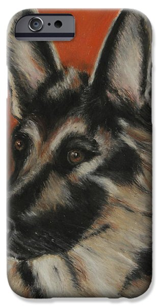 Police Dog iPhone Cases - My Sadie iPhone Case by Jeanne Fischer