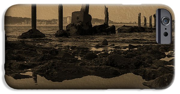 My Ocean iPhone Cases - My Sea Of Ruins III iPhone Case by Marco Oliveira