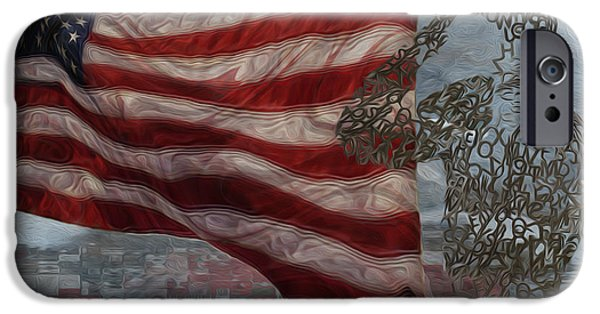 Old Glory iPhone Cases - My Salute To The Unknown iPhone Case by Jack Zulli
