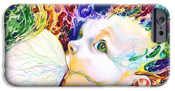 Contemporary Fine Art iPhone Cases - My Soul iPhone Case by Kd Neeley