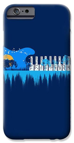 Sounds Digital Art iPhone Cases - My sound world iPhone Case by Neelanjana  Bandyopadhyay