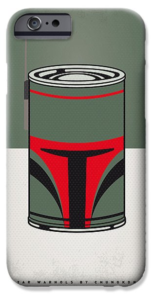 Concept Digital iPhone Cases - My Star Warhols Boba Fett Minimal Can Poster iPhone Case by Chungkong Art