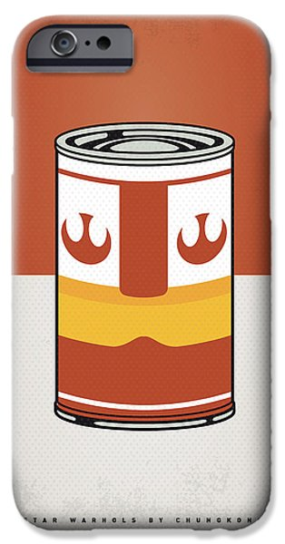 Concept Digital iPhone Cases - My Star Warhols Luke Skywalker Minimal Can Poster iPhone Case by Chungkong Art