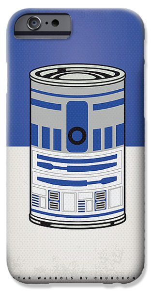Retro iPhone Cases - My Star Warhols R2d2 Minimal Can Poster iPhone Case by Chungkong Art