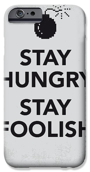 Concept Digital iPhone Cases - My Stay Hungry Stay Foolish poster iPhone Case by Chungkong Art