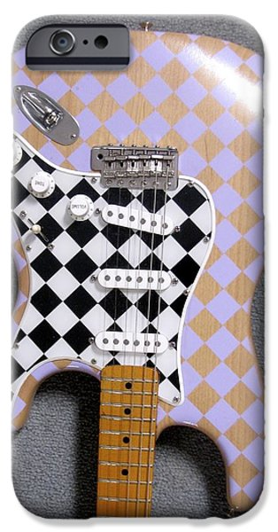 Fender Strat Paintings iPhone Cases - My Strat iPhone Case by John Houseman