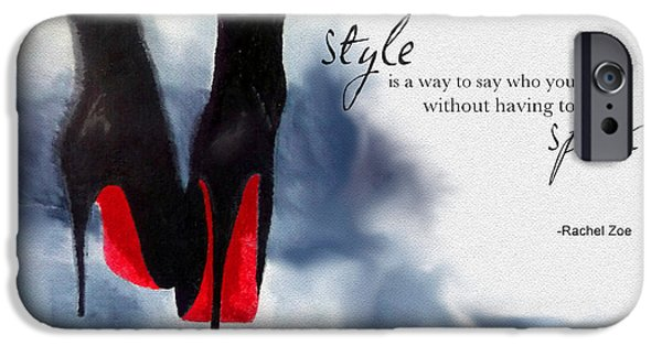 Fashion Designer Art iPhone Cases - My Style iPhone Case by Rebecca Jenkins