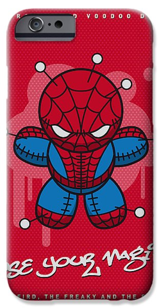 Power iPhone Cases - My SUPERCHARGED VOODOO DOLLS SPIDERMAN iPhone Case by Chungkong Art