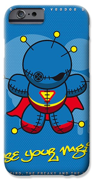 Power iPhone Cases - My SUPERCHARGED VOODOO DOLLS SUPERMAN iPhone Case by Chungkong Art