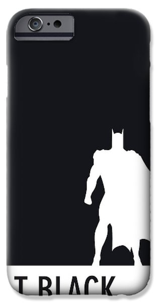 Pantone iPhone Cases - My Superhero 02 Bat Black Minimal poster iPhone Case by Chungkong Art