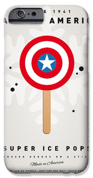 Print iPhone Cases - My SUPERHERO ICE POP - Captain America iPhone Case by Chungkong Art