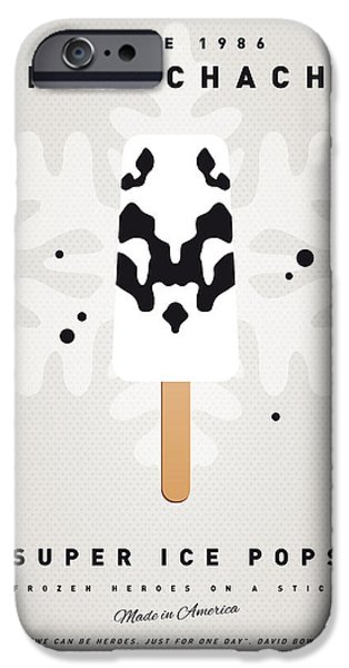 Graphic Design iPhone Cases - My SUPERHERO ICE POP - Rorschach iPhone Case by Chungkong Art