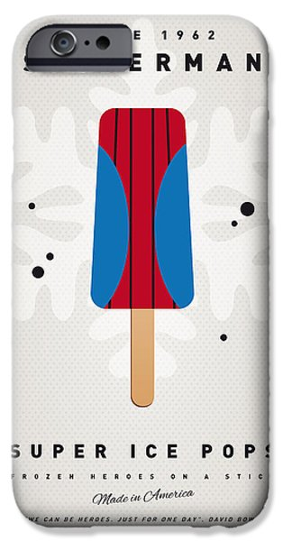 Pop Digital Art iPhone Cases - My SUPERHERO ICE POP - Spiderman iPhone Case by Chungkong Art