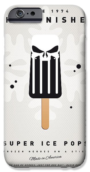 Graphic Design iPhone Cases - My SUPERHERO ICE POP - The Punisher iPhone Case by Chungkong Art