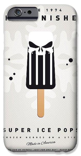 Superhero iPhone Cases - My SUPERHERO ICE POP - The Punisher iPhone Case by Chungkong Art
