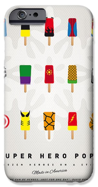 My SUPERHERO ICE POP UNIVERS iPhone Case by Chungkong Art