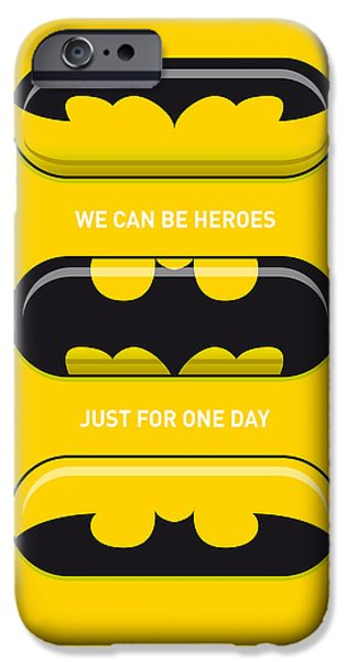 Concept Digital iPhone Cases - My SUPERHERO PILLS - Batman iPhone Case by Chungkong Art