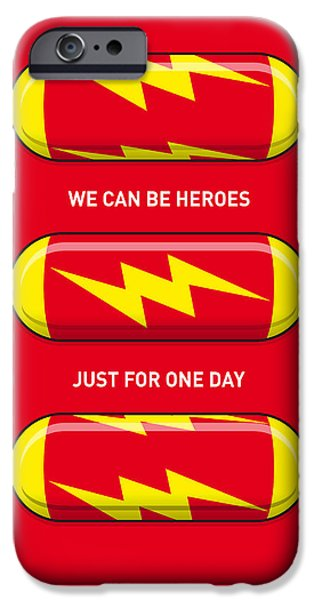 Fantastic Gifts iPhone Cases - My SUPERHERO PILLS - The Flash iPhone Case by Chungkong Art