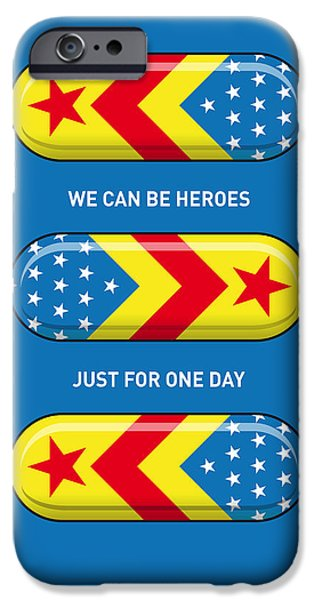 Concept iPhone Cases - My SUPERHERO PILLS - Wonder woman iPhone Case by Chungkong Art