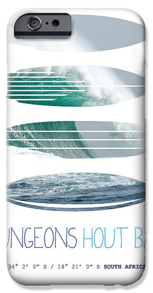 Dungeons iPhone Cases - My Surfspots poster-4-Dungeons-Cape-Town-South-Africa iPhone Case by Chungkong Art