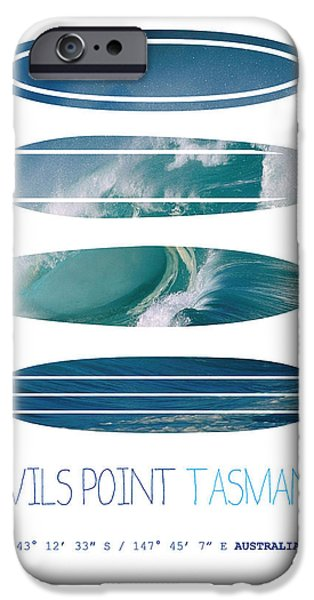My Surfspots poster-5-Devils-Point-Tasmania iPhone Case by Chungkong Art