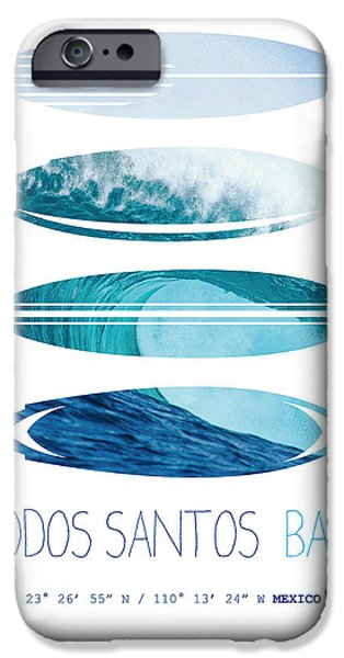 Dungeons iPhone Cases - My Surfspots poster-6-Todos-Santos-Baja iPhone Case by Chungkong Art