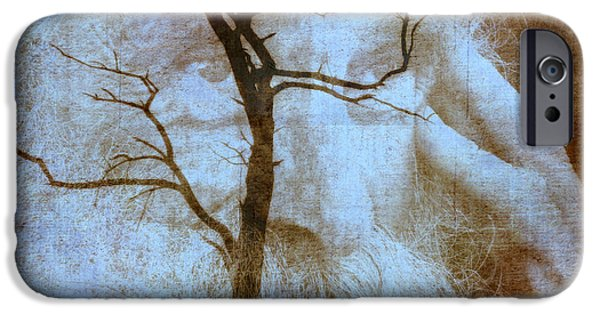 Contemplative Mixed Media iPhone Cases - My Thinking Tree iPhone Case by Irma BACKELANT GALLERIES