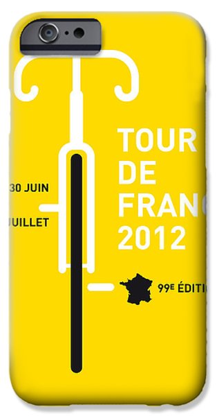 Cycles iPhone Cases - MY Tour de France 2012 minimal poster iPhone Case by Chungkong Art