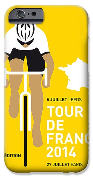 Cycles iPhone Cases - My Tour De France Minimal Poster 2014 iPhone Case by Chungkong Art