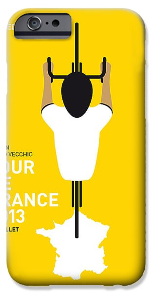 Cycling iPhone Cases - My Tour De France Minimal Poster iPhone Case by Chungkong Art