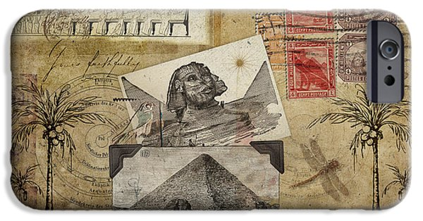 Egyptian iPhone Cases - My Trip to Egypt 1914 iPhone Case by Carol Leigh
