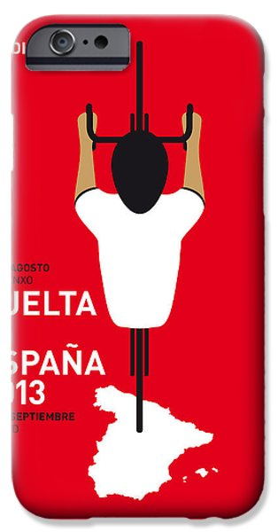 D iPhone Cases - My Vuelta A Espana Minimal Poster - 2013 iPhone Case by Chungkong Art