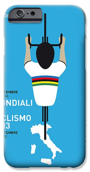 Cycles iPhone Cases - MY World Championships MINIMAL POSTER iPhone Case by Chungkong Art
