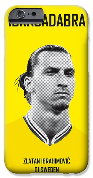 Graphic Design iPhone Cases - My Zlatan soccer legend poster iPhone Case by Chungkong Art
