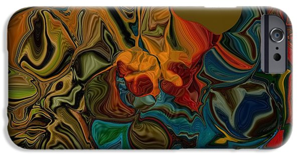 Red Abstract iPhone Cases - Myassa Hertz iPhone Case by Jim Williams
