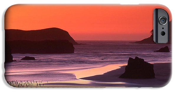 Marine iPhone Cases - Myers Creek Sunset iPhone Case by Ginny Barklow