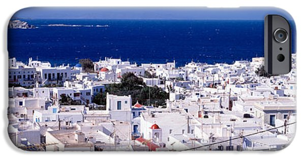 Building iPhone Cases - Mykonos, Greece iPhone Case by Panoramic Images