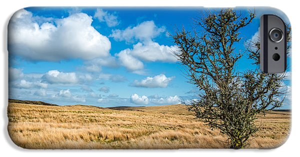 Clouds iPhone Cases - Mynydd Hiraethog iPhone Case by Adrian Evans