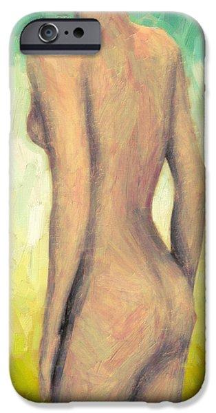 Figure Study iPhone Cases - Myrrha iPhone Case by Taylan Soyturk