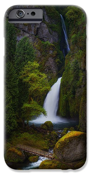 Tree Art Print iPhone Cases - Mysteries of Wahclella iPhone Case by Darren  White
