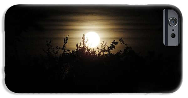 Moonscape iPhone Cases - Mysterious Moonlight iPhone Case by Ausra Paulauskaite