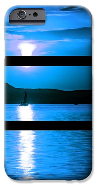 Planetoid Paintings iPhone Cases - Mysterious Moonlight iPhone Case by Bruce Nutting