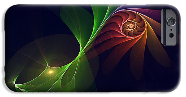 Abstract Digital Art iPhone Cases - Mysterious Orchid iPhone Case by Bong Bernardo