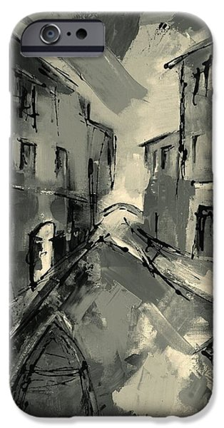 Europe Mixed Media iPhone Cases - Mysterious Venice iPhone Case by Elise Palmigiani