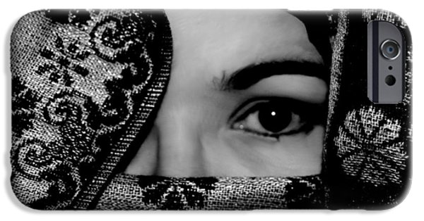 Michelle iPhone Cases - Mysterious Woman iPhone Case by Michelle McPhillips