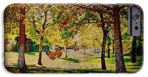 Matting iPhone Cases - Mystery of the Trees  iPhone Case by Bobbee Rickard
