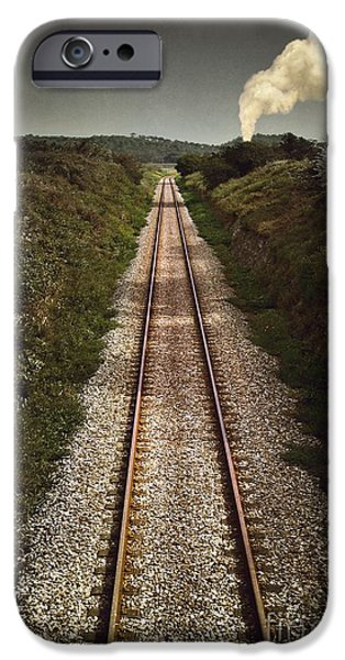 Smoke iPhone Cases - Mystery Train iPhone Case by Carlos Caetano