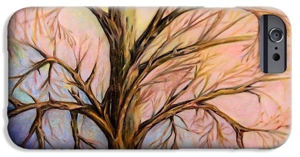 Tree Art Print iPhone Cases - Mystery tree iPhone Case by Zina Stromberg