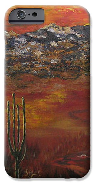 Mystic Desert iPhone Case by Linda Eversole